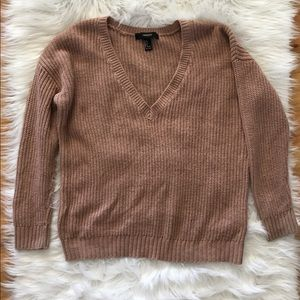 Forever 21 Sweaters - 🌺Forever 21 mauve color sweater size S